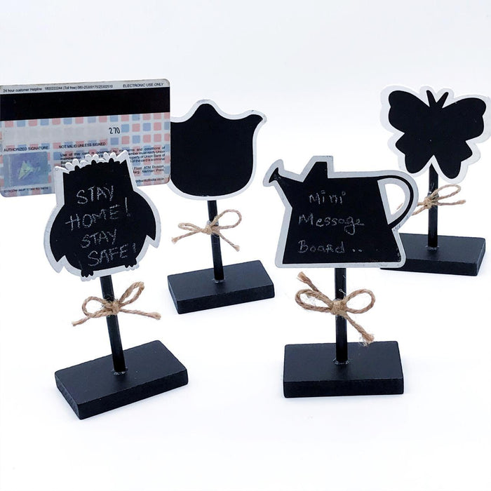 Mini Message Sticks - Set of 2 - Bird-Description: These Mini Message Sticks by Lemonade are perfect to jot down important notes. They are ideal for leaving messages for your loved ones & partners on special occasions. You can use them at your own personal buffets, gardening, or even storage for providing information and making it easy to identity food, plants & groceries! These can even be used as paperweights or even to organize your desk at home or the office. Sold as a set of 2 without chalk