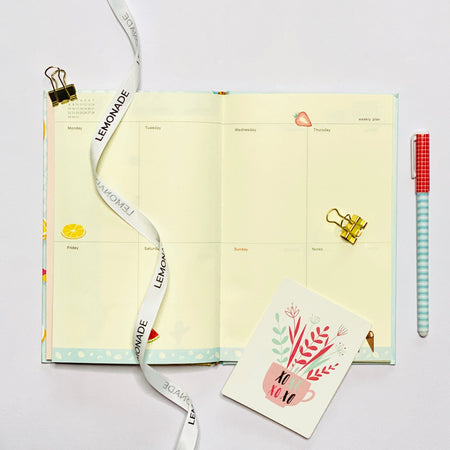 Notebook - Lemonade Summer-Description: This notebook is a must-have for all the stationery lovers! Keep your important notes, quick doodles, and secret schemes safely jotted inside. Working hard? Back to school? Meeting bullets? We at Lemonade have a notebook for every occasion. Dimension: 8 x 5 Inches-Default Tittle-LemonadeIndia
