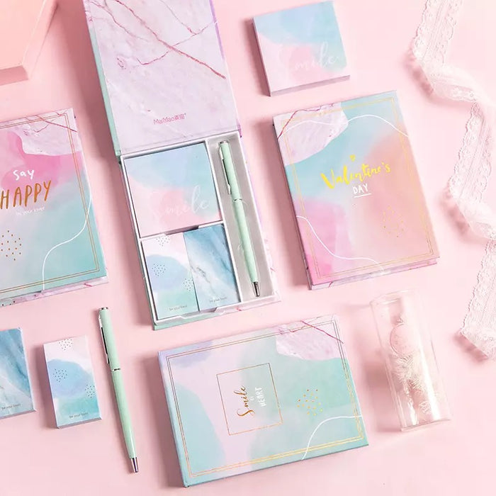 Pastel Stationery Set - With Pen