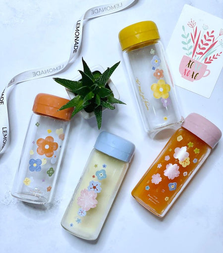 Pocket Glass Bottle - Peach-Description: Get on top of your hydration game with this super cute Pocket Glass Bottle from Lemonade. Perfect for your daily routine and to beat the summer heat! It is super compact, portable & conveniently fits right into your bag. Dimensions: 13 cms Capcity: 70ml-Default Tittle-LemonadeIndia