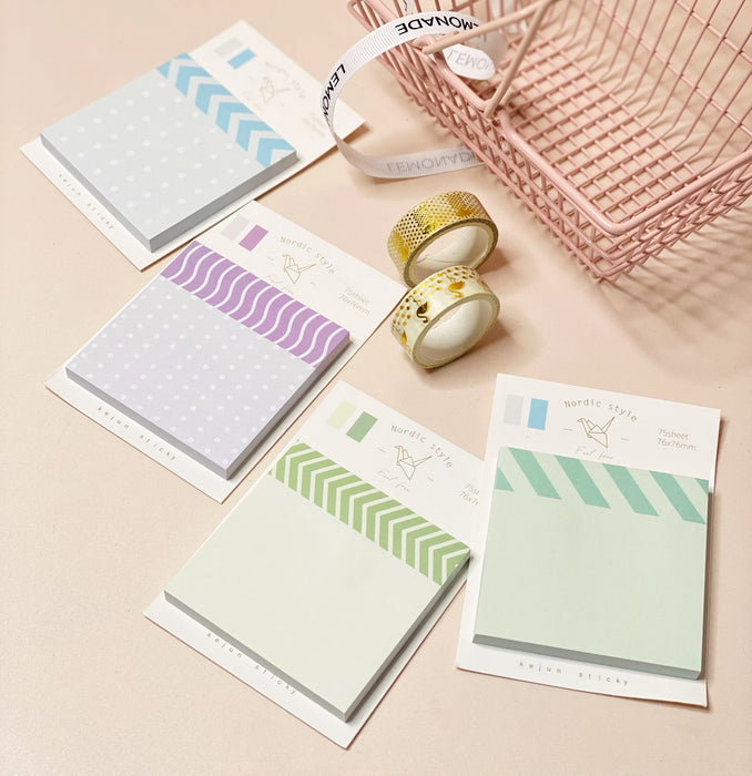 Printed Sticky Notes - Set of 75 Sheets