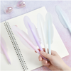 Quill Pen - Blue-Description: Whether crossing off your to-do list or jotting in your journal, our lightweight + colourful and quirky pens from Lemonade come in handy for all purposes. Sold Individually. Dimensions: H - 7 Inches Additional Information: Blue Gel Ink-Default Tittle-LemonadeIndia