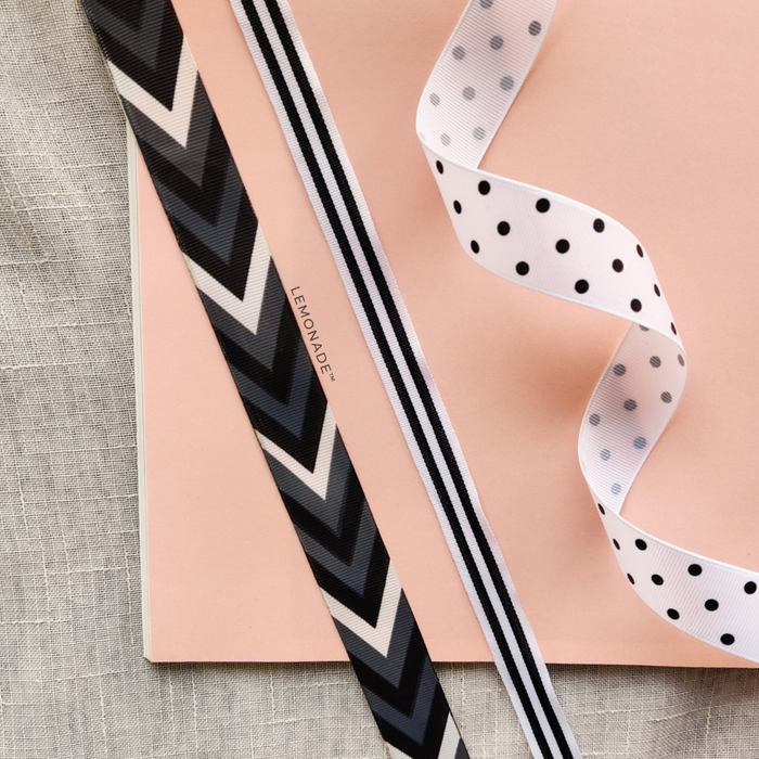 Ribbons - Set of 3 - Monochrome