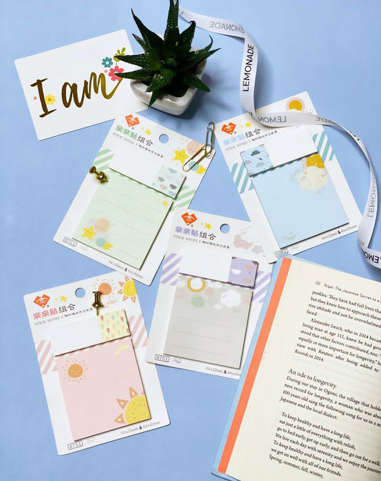 Sticky Notes Set With Bookmark