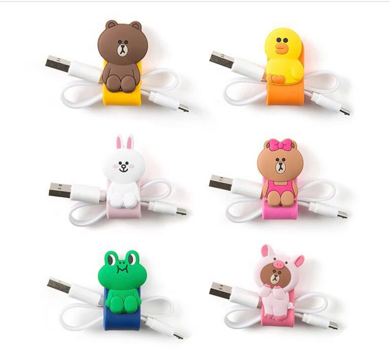 Wire Organizer - Brown Bear-Description: A super helpful & quirky organizer helping you from a first world problem!Use this to ensure your wire (chargers or earphones) don't break.It lets you easily find your essentials & avoids them from tangling. Dimension: 9.5 × 2 × 0.5 cms Sold Individually.-LemonadeIndia