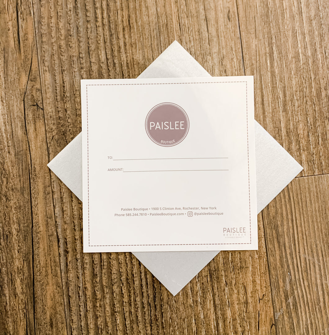 Paislee Boutique Giftcard