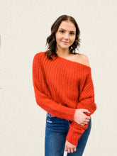 Load image into Gallery viewer, Off the Shoulder Chenille Sweater