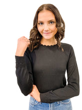 Load image into Gallery viewer, Scalloped Trim Sweater