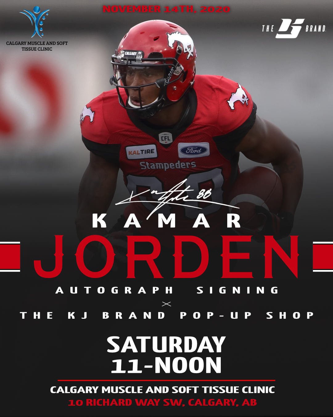 Kamar Jorden Autograph Signing x The KJ Brand Pop-Up in Calgary