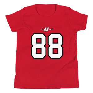Older Kids' Name ☓ Number Tee - YYC Red