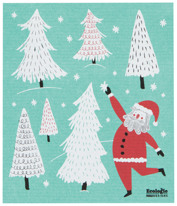 Santa Swedish Dish Towel