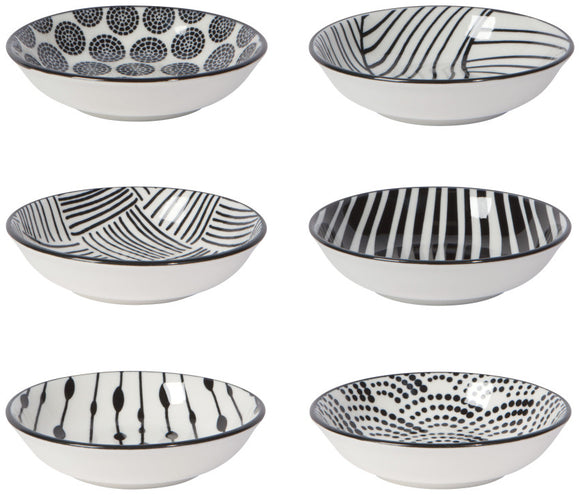Black Dots Pinch Bowls