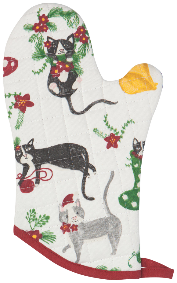 Holiday Cat Oven Mitt