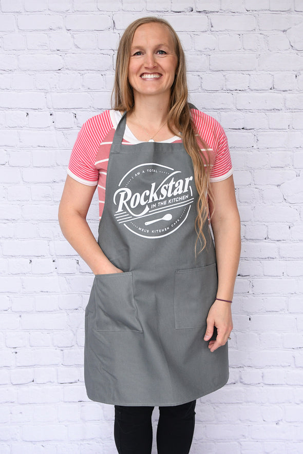 Canvas Mel's Kitchen Cafe Rockstar Aprons
