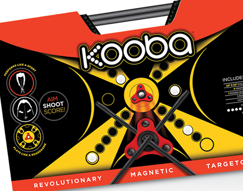 Close view of the KOOBA game packaging from the front.