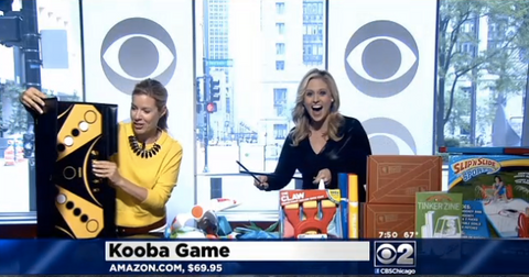 CBS anchor is delighted by her KOOBA shot!