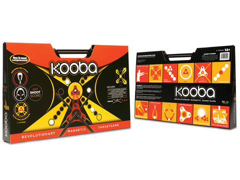 Front and rear image of the KOOBA game packaging.