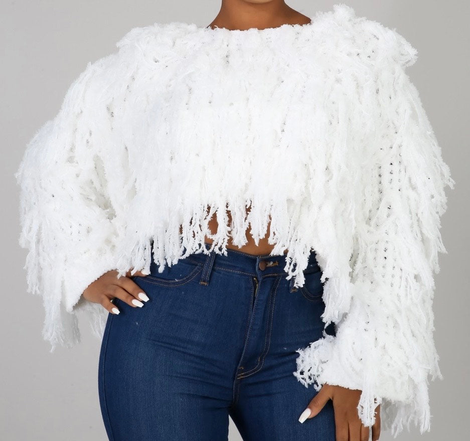 Frills and Thrills Midriff Sweater