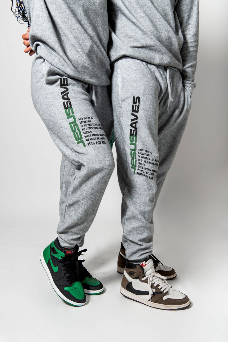 JESUS SAVES Premium Joggers - Stained Glass Apparel