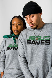 JESUS SAVES Premium Crewneck