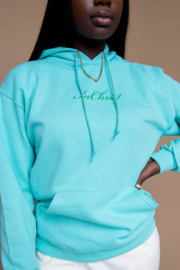 In Christ Hoodie - MINT - Stained Glass Apparel