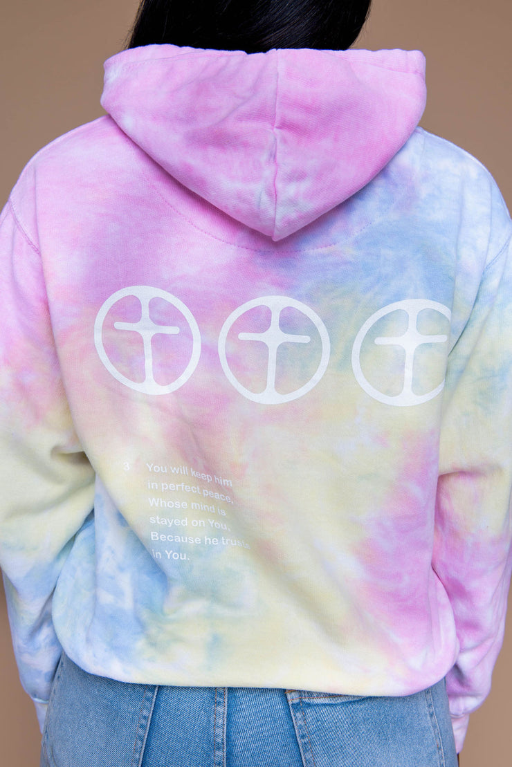Perfect Peace Tie Dye Hoodie - Sherbet - Stained Glass Apparel