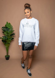 Love Definition Crewneck - White - Stained Glass Apparel