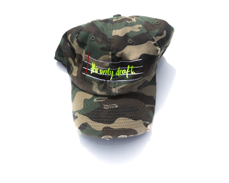 His Only Draft Dad Cap - Stained Glass Apparel