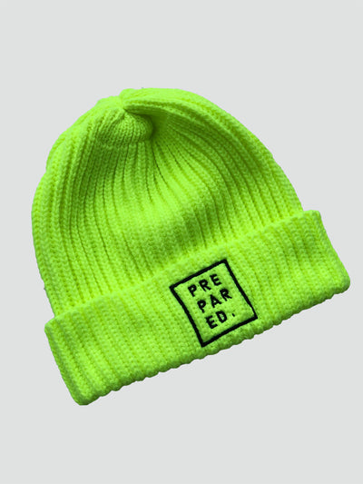 Prepared Neon Beanie - Stained Glass Apparel