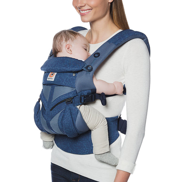 Ergobaby Omni 360 Cool Air Mesh Baby Carrier - Blue Blooms (2)