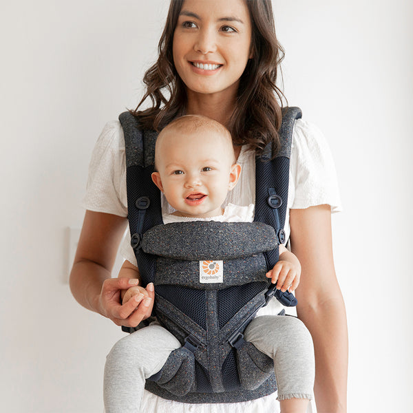 Ergobaby Omni 360 Cool Air Mesh Carrier - Blue Tweed (3)