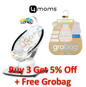 Promotion - Buy 3 Get 5% Off and Free Grobag