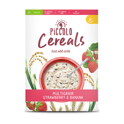 Piccolo Multigrain Strawberry & Banana 125g