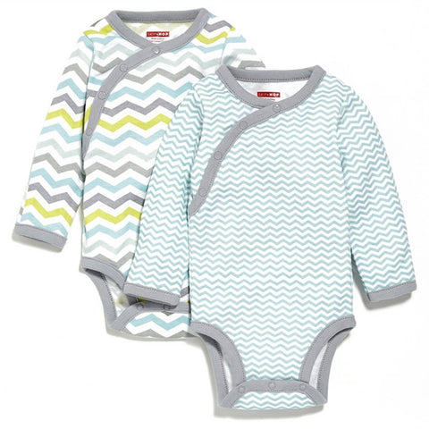 Skip Hop Side-Snap Long Sleeve Body Suit - Blue 6M