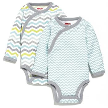 Skip Hop Side-Snap Long Sleeve Body Suit - Blue - 3m