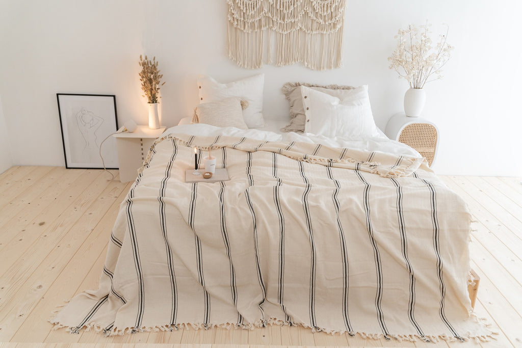 Rafine Living Handcrafted Home Goods Rhine Cotton Bedspread Throw Blanket New 02
