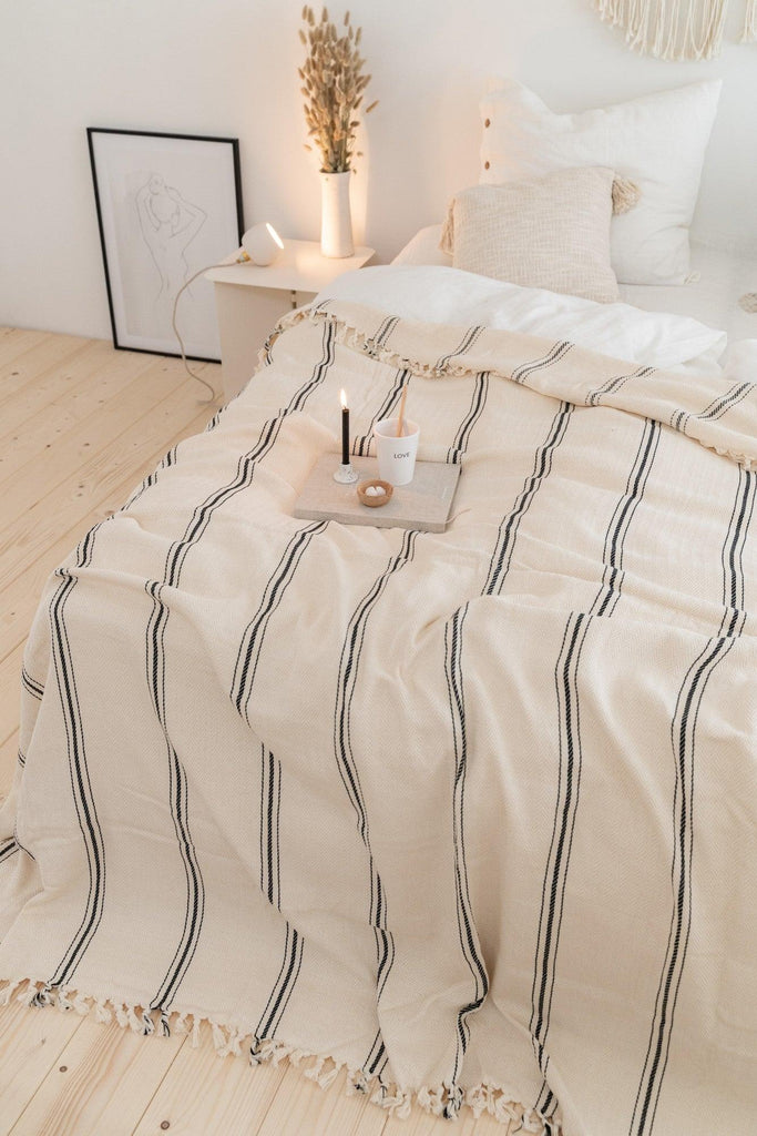 Rafine Living Handcrafted Home Goods Rhine Cotton Bedspread Throw Blanket New 03