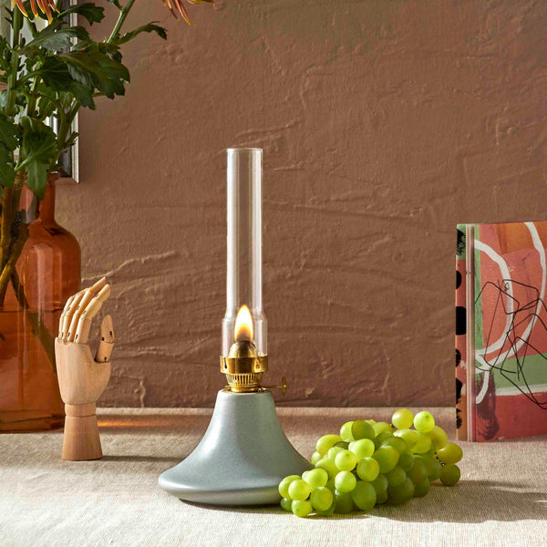 Rafine Living Handcrafted Home Goods Sauca Gray Coniform Oil Lamp