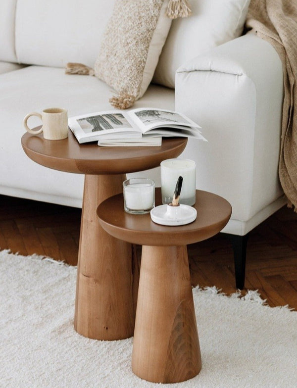 Rafine Living Handcrafted Home Goods Tuca's Home Mushroom 2 and 3 Dark Wood Coffe Table 1
