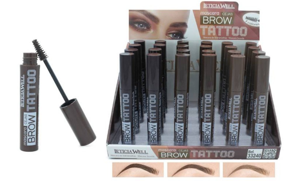 3 MASCARAS SOURCILS BROWN (marron) TATTOO LETICIA WELL