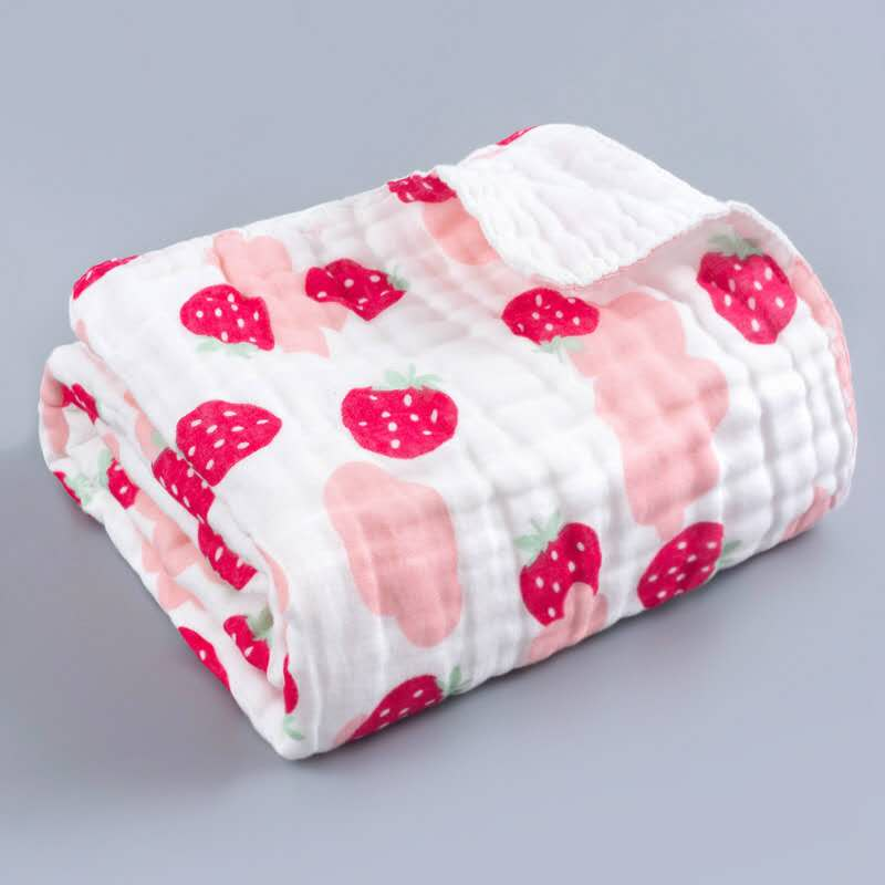 Tomo Bamboo fibre Blanket Stawberry