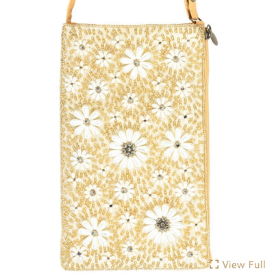 This floral gold bag is the perfect way to spice up any outfit!