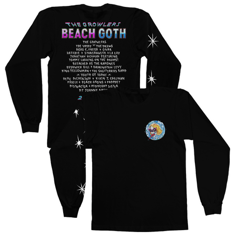 2018 Beach Goth Longsleeve T-Shirt - Black