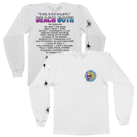 2018 Beach Goth Longsleeve T-Shirt - White