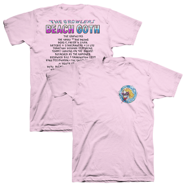 2018 Beach Goth T-Shirt - Pale Pink