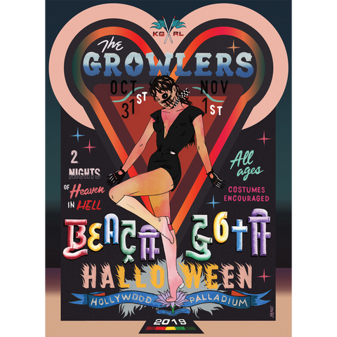 Limited Edition Beach Goth 2019 Hollywood, CA Poster