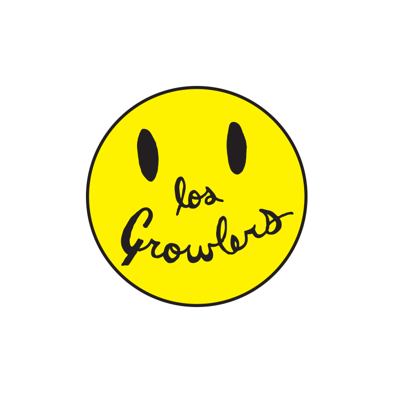 Sticker collection - Smiley Face Patch The Growlers