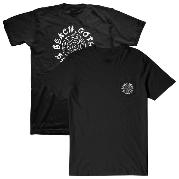 Beach Goth Records Spiral Pocket T-Shirt