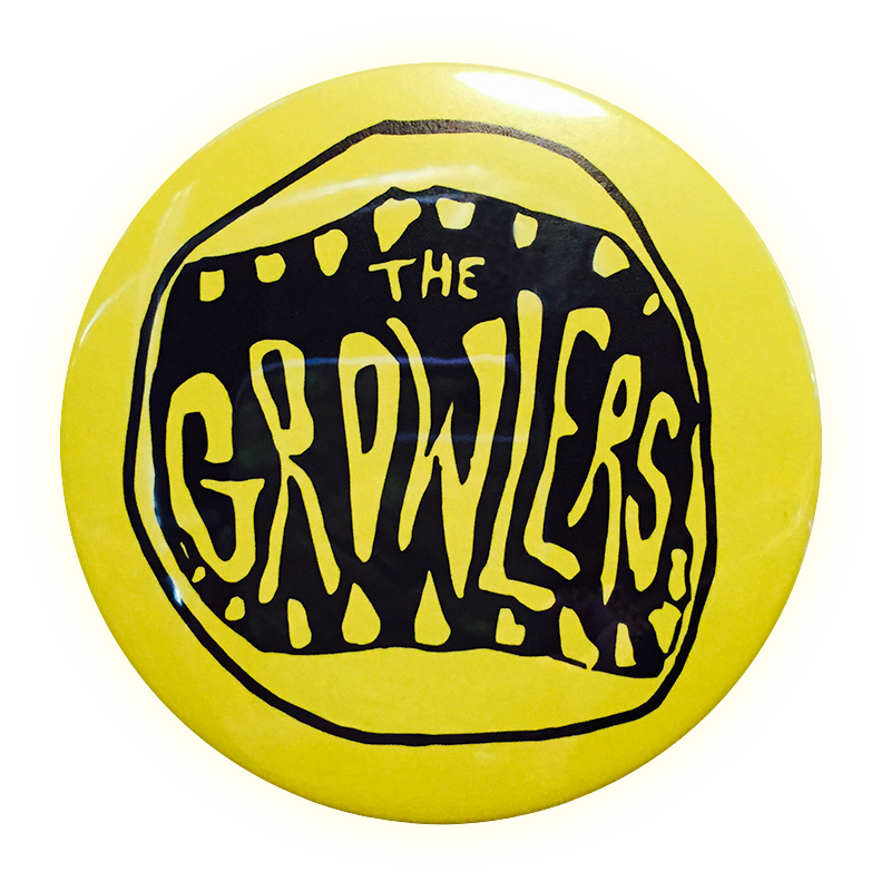 Classic Mouth Logo Button - The Growlers