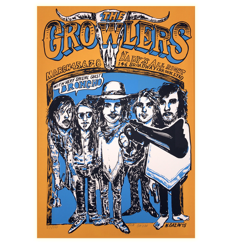 Baby's All Right Limited Edition Show Poster - The Growlers